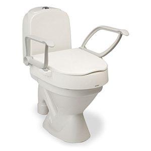 Toilettensitzerhöhung mit Armlehnen. Leicht zu montieren.